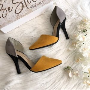 Chinese Laundry D'Orsay Heels Colorblock, Size 5.5